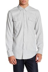 Burnside Solid Long Sleeve Flannel Shirt Metallic