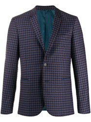 Paul Smith Ps Single Breasted Check Pattern Blazer 60