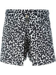 Boutique Moschino Graphic Leopard Print Shorts Black