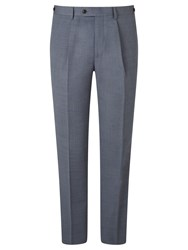 John Lewis And Co. Drayton Wool Crossweave Tailored Suit Trousers Smokey Blue
