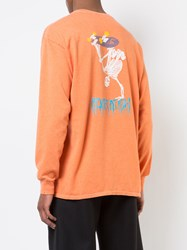Adaptation Aod Skater Long Sleeve Vintage T Shirt Yellow And Orange