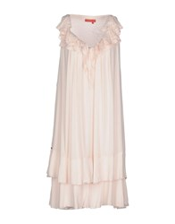 Manila Grace Denim Dresses Short Dresses Women Light Pink