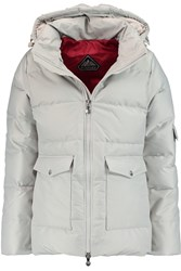 Pyrenex Quilted Shell Down Coat Gray