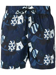 Rrd Printed Swimshorts Blue
