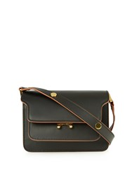 Marni Trunk Mini Leather Cross Body Bag Black