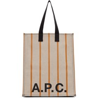 A.P.C. Beige Construction Shopping Tote
