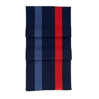 Aspinal Of London University Stripe Scarf Navy