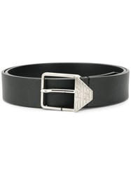 Emporio Armani Branded Buckle Belt Black