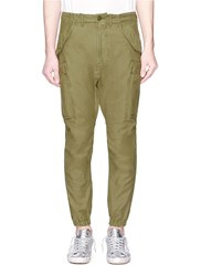 R 13 'Surplus Military' Canvas Cargo Pants Green