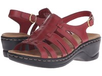 Clarks Lexi Marigold Q Red Leather Women's Sandals