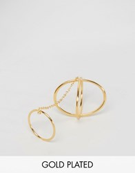 Gorjana Criss Cross Ring To Midi Connector Gold