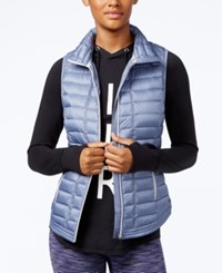 Tommy Hilfiger Quilted Zippered Vest Chambray