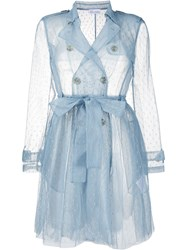 Red Valentino Point D'esprit Sheer Trench 60