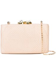 Kayu Woven Clutch Bag Nude And Neutrals