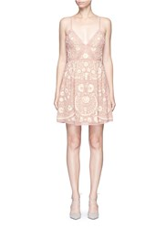 Needle And Thread Embroidery Motif Sequin Floral Prom Dress Pink