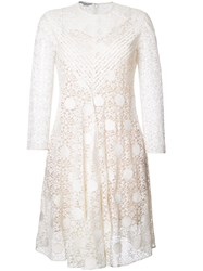 Stella Mccartney Polka Dot Lace Dress White
