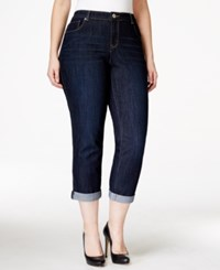 Styleandco. Style And Co. Plus Size Curvy Fit Cuffed Ex Boyfriend Jeans Caneel Wash