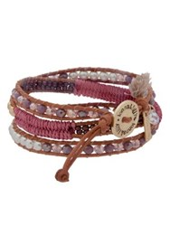 Lonna And Lilly 4Mm Faux Pearl Leather Bracelet Rose