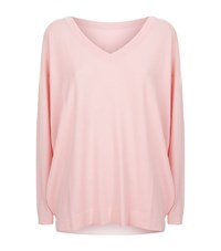 Malo V Neck Reversible Jumper Female Pink