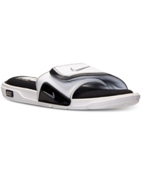 Nike Men's Comfort Slide 2 Sandals From Finish Line White Black Met Silver