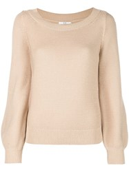Co Bell Sleeve Jumper Brown