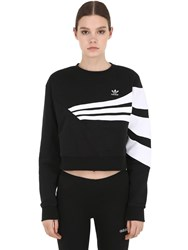 Adidas Striped Cotton Sweater Black
