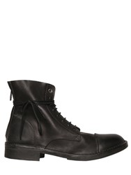 Diesel Smooth Leather Lace Up Boots