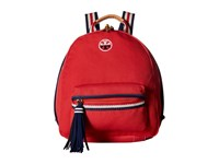 Tory Burch Embroidered T Backpack Cherry Apple