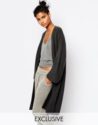 Micha Lounge Kimono Sleeve Ribbed Cardigan Grey