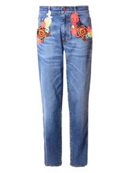 Christopher Kane Floral Embroidered Jeans