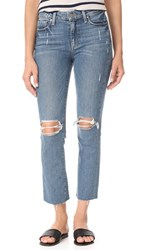 Paige Jacqueline Straight Raw Hem Jeans Beachwood Destructed
