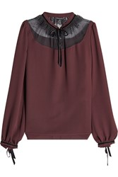 Tara Jarmon Blouse With Tulle Lace Brown