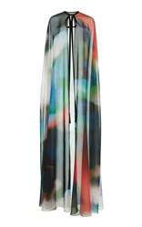 Elie Saab Printed Full Length Cape Multi