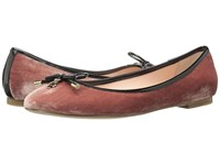 Kate Spade Willa Antique Rose Velvet Black Patent Women's Slip On Shoes Brown