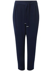 Dorothy Perkins Curve Plus Size Navy Woven Joggers Blue