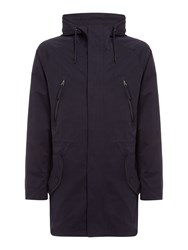 Criminal Men's Greenfield Parka Blue