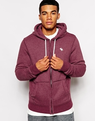 Abercrombie And Fitch Sweat With Zip Burgundy