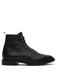 Thom Browne Brogue Detailed Leather Boots Black