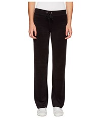 Juicy Couture Mar Vista Microterry Pants Pitch Black Women's Casual Pants