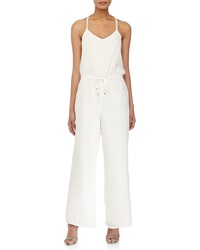 Greylin Willa Sleeveless V Neck Jumpsuit White