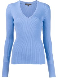 Barbara Bui V Neck Sweater Blue