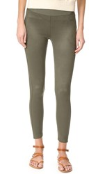 David Lerner Microsuede Barrow Leggings Olive