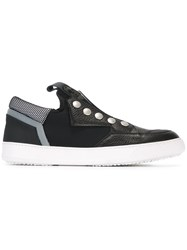 Bruno Bordese Stud Detail Slip On Sneakers Black