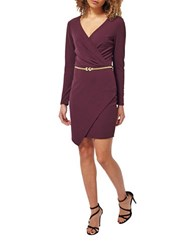 Miss Selfridge Belted Surplice Dress Red
