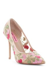 Betsey Johnson Johni Floral Mesh Pump Multi