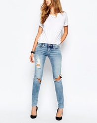 Blank Nyc Skinny Jeans With Rips And Distressing Blue
