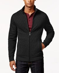Club Room Men's Big And Tall Quilted Zipper Jacket Only At Macy's Deep Black