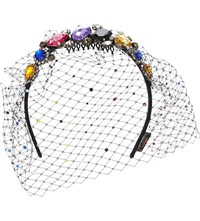 Piers Atkinson Jewel Fascinator Headband Multi