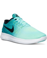 Nike Men's Free Rn Running Sneakers From Finish Line Hyper Turq Black Rio Teal