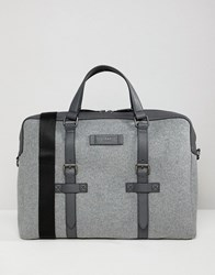 Ted Baker Cabble Document Bag In Wool Grey